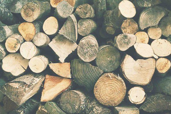 construir mesa troncos