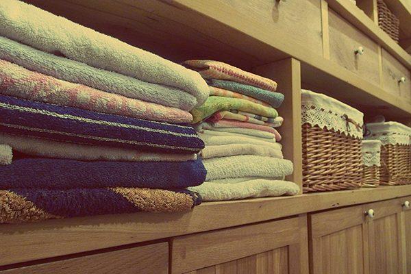 Una forma de ordenar las toallas