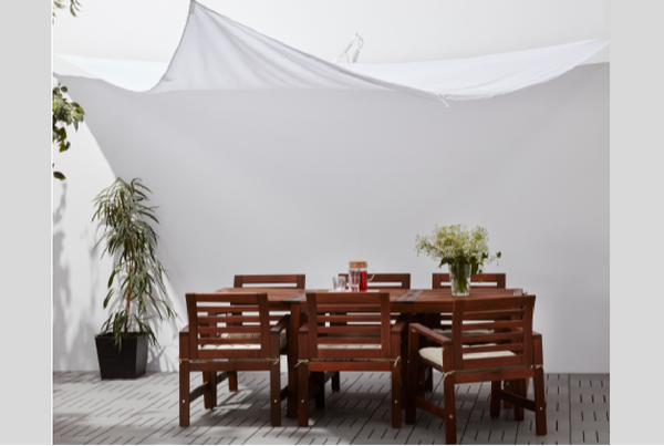 toldo blanco terraza Ikea